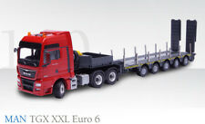 NEW Conrad 76172 MAN TGX XXL Euro 6 Tractor w/5-Axle Doll Low Loader 1/50 MIB