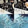 Women Alloy Geometric Pearl Stud Ear Dangle Drop Earrings Jewelry Fashion Gift