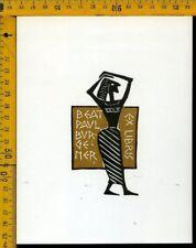Ex Libris  Kobi Baumgartner Zurigo Svizzera b 1372