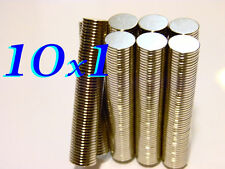 100 CALAMITE 10x1mm MAGNETI NEODIMIO  magnete calamita calamite