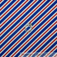 BonEful Fabric FQ Cotton Quilt White Red Blue American Patriotic Stripe Boy Girl