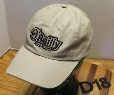 VERY NICE O'REILLY AUTO PARTS HAT BEIGE STRAPBACK ADJUSTABLE EXCELLENT COND D18