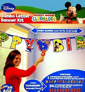Disney Mickey Mouse / Birthday Party Jumbo Letter Banner Kit / Over 10 ft long