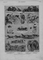 "1889 LARGE ILLUS "" SKETCHES AT OLYMPIA  "" BARNUMS"