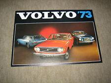 1973 VOLVO 142, 144, 145, 164 E, 1800 il USA prospectus brochure, 4 pages