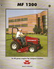 Farm Tractor Brochure - Massey Ferguson - MF 1200 series Lawn 1999 10/99 (F1848)