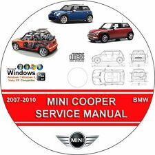 MINI COOPER , S & CONVERTIBLE SERVICE REPAIR MANUAL PDF ON CD 2007-2010 07 08 09