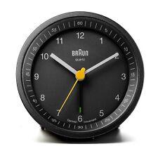 Braun Design BNC007 klassischer Wecker, schwarz, Neu+OVP, 66009