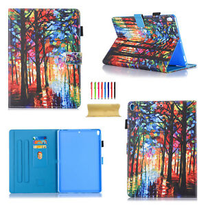 For Apple iPad 2 3 4/Mini/Air 2/9.7 2017 Stand Smart Pattern Leather Case Cover