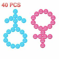 Feeke 40 Pieces Gender Reveal Button Pins - 2 Inches Cute Boy Girl (2 Inches)