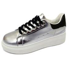Calzado de mujer sin marca color principal plata sintético