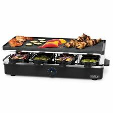 Salton PG1645 Rectangle Party Grill And Raclette 8 Persons