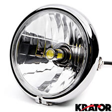 "6"" Chrome LED Headlight w/ Running Light For Kawasaki ZR Zephyr 550 750"