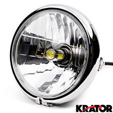 """6"""" Chrome LED Headlight w/ Running Light For Kawasaki ZR Zephyr 550 750"""