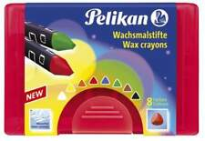 Pelikan 722942 Wachsmaler dick 665/8 Farben dreieckig wasserfest Wachsmalstift