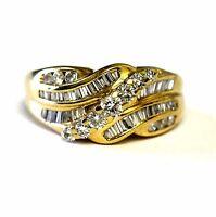 14k yellow gold ladies .84ct VS G diamond cluster ring vintage estate 6.4g