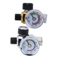 "1/4"" 0-140PSI Air Compressor Pressure Regulator Gauge Switch Control Valve Tool"