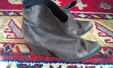 JEFFREY CAMPBELL x Free People Distressed Leather Slouchy Ankle Western Boots 9