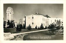 Royal Oak MI RPPC From the South~Shrine of the Little Flower~Tower~c1950