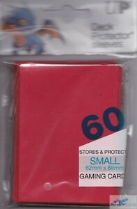 60 ULTRA PRO YUGIOH CARDFIGHT small RED DECK PROTECTORS CARD SLEEVES