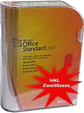 MS Office STANDARD 2007 BOX Vollversion+Zweitnutzungsrecht(Lizenz+CD/DVD DEUTSCH