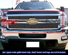 Fits Chevy Silverado 2500/3500 HD Stainless Steel X Mesh Grill-Fits 2011-2013