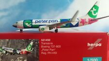 "Herpa Wings 1:500 531450  Transavia Boeing 737-800 ""Peter Pan"" - PH-HSI"