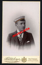 CDV-Vintage Photo Portrait-studentika-Bad Pyrmont-Schlitzberger