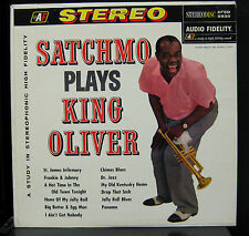 Louis Armstrong - Satchmo Plays King Oliver LP VG+ AFSD 5930 Stereo USA 1960