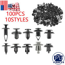 Set of 100 Trunk Screw Rivets Car Bumper Fender For Auto Plastic Fastener Clips