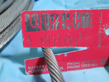 "1 x 19 Stainless Steel Cable Sailboat Rigging 9/32"" by the foot New Unused"