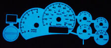 Free Ship 99-02 Chevy Silverado / Tahoe Blue / Green Glow Gauge Face Overlay New
