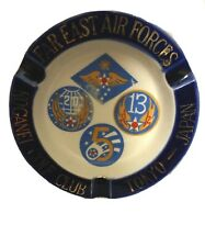 Vintage Military Air Forces Far East Advertising Ashtray Golf Club Tokyo Japan