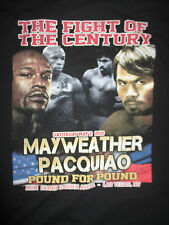 "2015 FLOYD MAYWEATHER vs MANNY PACQUIAO ""FIGHT OF THE CENTURY"" (XL) T-Shirt"