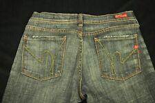 "Citations Of Humanity Cotton Blend Low Rise Boot Cut Black Denim Jeans 29"" USA"