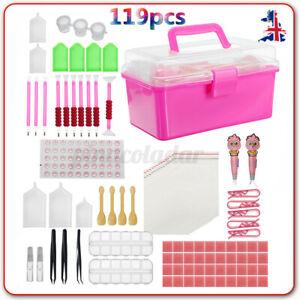 119Pcs Diamond Painting Tool Embroidery Kit DIY 5D Art Accessories Pen Box Set