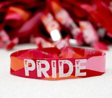 Lesbian Pride Wristband - LGBTQ Lesbian Pride Parade Bracelets - Gay Pride