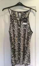 BNWT Women's Next Black and Cream Camisole Top - Size 20