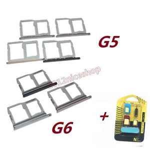 New OEM Nano Sim Card SD Card Tray Slot Holder For LG G5 H850 H830 G6 H870 H871