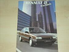 60348) Renault R 21 - Exclusiv - Prospekt 1986