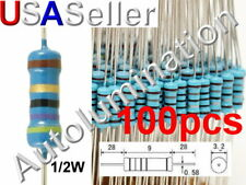 100pcs 12w 05watt Carbon Film Resistor 5 1 To 91m Ohm Resistance