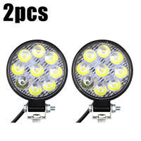 2x 27W 9LED Round Flood Fog Work Light Bar Lamp For Truck Tractor SUV FE TWB Zy