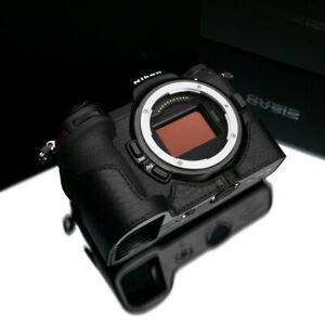 Gariz XS-CHZ6/7BK Genuine Leather Half Case for Nikon Z7 / Z6, Black