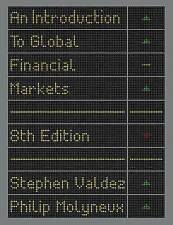 An Introduction to Global Financial Markets, Very Good Condition Book, Valdez, S