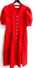 Damen Trachten Kleid Leinen rot Gr. 42 v. Frankonia's Country