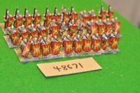 25mm roman era / roman - legionaries 34 figs (as photo) - inf (48671)