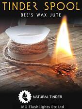 WAZOO SURVIVAL GEAR BEES WAXED JUTE TINDER SPOOL FIRELIGHTING BUSHCRAFT EDC