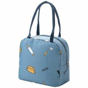 Cartoon Women Lunch Bags Food Container Bento Organizer Waterproof Oxford Cooler