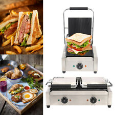 More details for commercial nonstick panini press grill toaster maker for any sandwich thickness