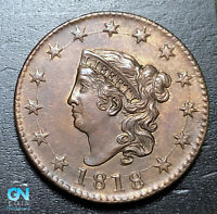 1818 Coronet Head Large Cent   --  MAKE US AN OFFER!  #B3648